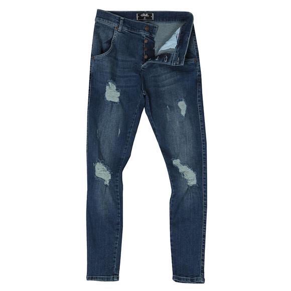 Sik Silk Mens Blue Distressed Skinny Jean main image