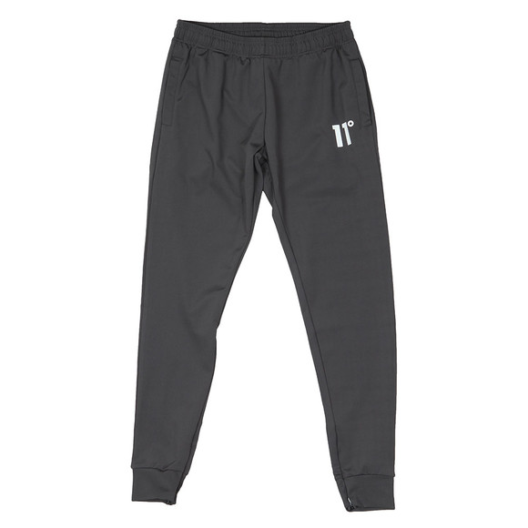 Eleven Degrees Mens Grey Poly Trousers main image