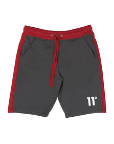 Eleven Degrees Mens Grey Block Sweat Shorts