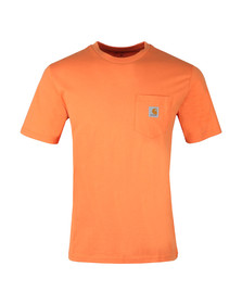 Carhartt Mens Orange Pocket Crew T-Shirt