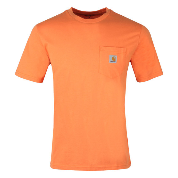 Carhartt Mens Orange Pocket Crew T-Shirt main image