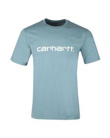 Carhartt Mens Blue Script T Shirt