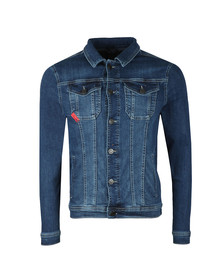 Eleven Degrees Mens Blue Skinny Denim Jacket
