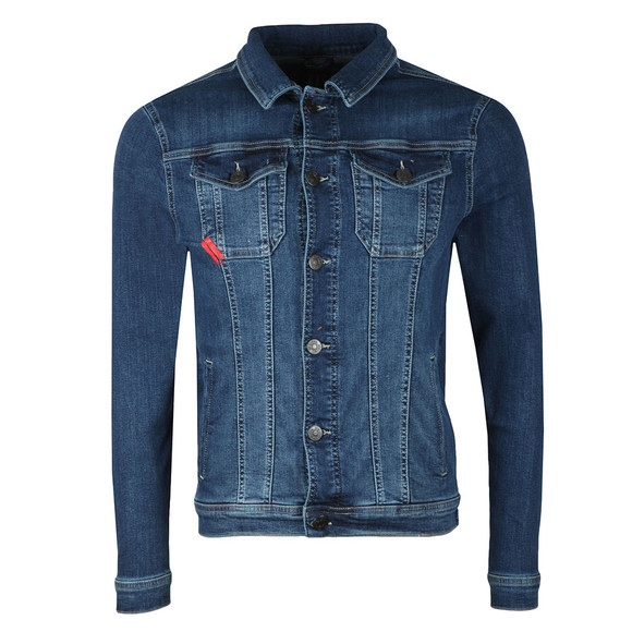 Eleven Degrees Mens Blue Skinny Denim Jacket main image