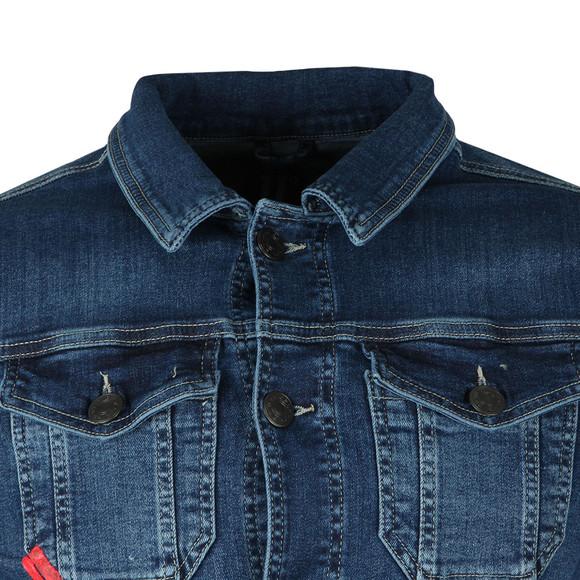 Eleven Degrees Mens Blue Skinny Denim Jacket main image