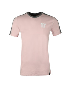 Eleven Degrees Mens Pink S/S Block Tee