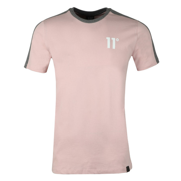 Eleven Degrees Mens Pink S/S Block Tee main image