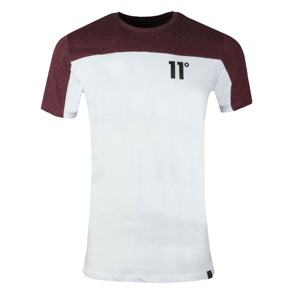 Eleven Degrees Mens Red S/S Chest Block Tee