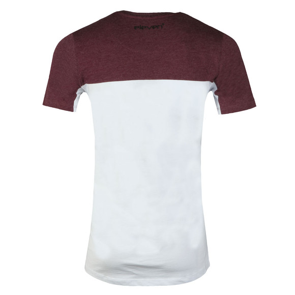 Eleven Degrees Mens Red S/S Chest Block Tee main image