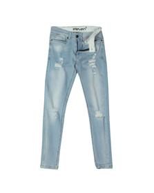 Eleven Degrees Mens Grey Distressed Skinny Jean