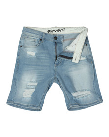 Eleven Degrees Mens Beige Denim Shorts