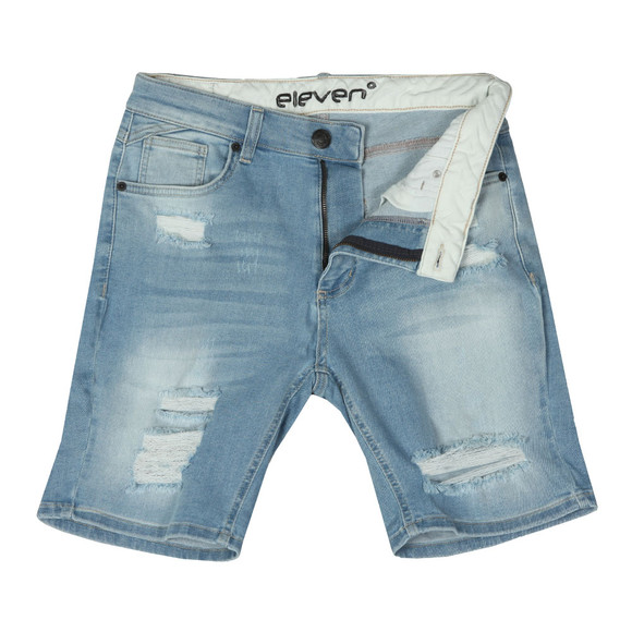 Eleven Degrees Mens Beige Denim Shorts main image