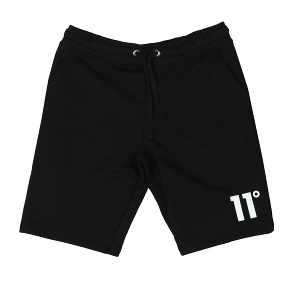 Eleven Degrees Mens Black Core Logo Sweatshort main image