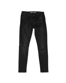 Eleven Degrees Mens Black Distressed Skinny Jean