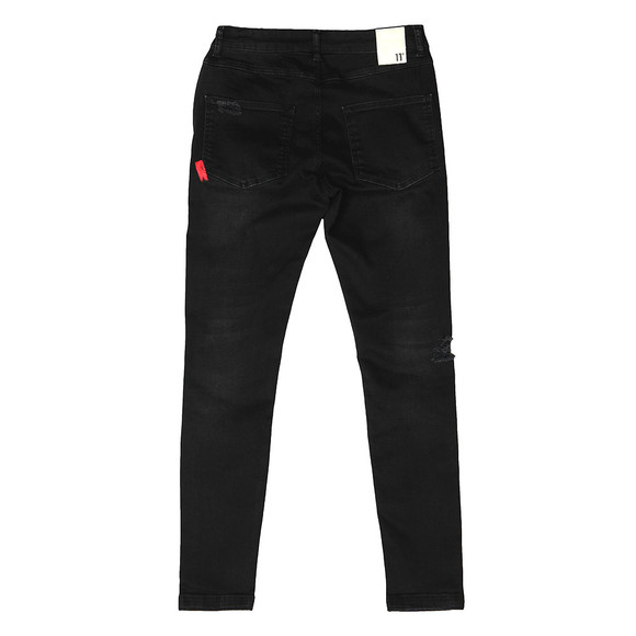Eleven Degrees Mens Black Distressed Skinny Jean main image