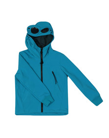 CP Company Undersixteen Boys Blue Lightweight Soft Shell Goggle Jacket