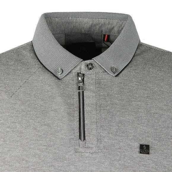 Luke Mens Silver Rainbow Zip Detail Polo main image