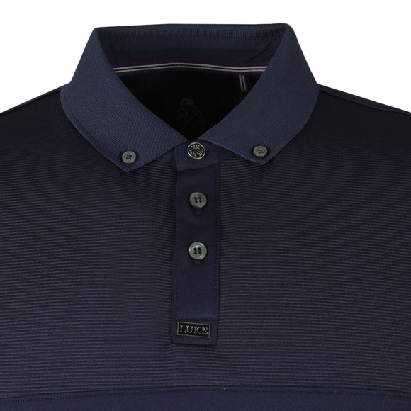 Luke Mens Blue Ribeye Detailed Polo main image