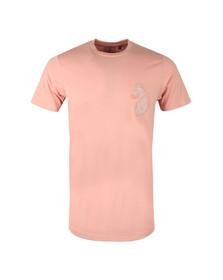 Luke Mens Pink BackAnd5th Splion Print Tee