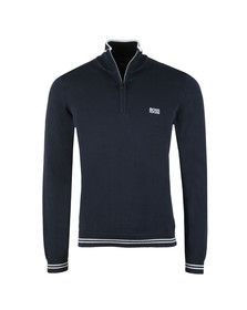 Boss Mens Blue Zime Half Zip Jumper