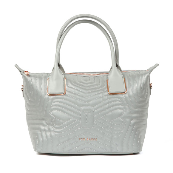 Ted Baker Womens Silver Carisee Small Reflective Quilted Tote Bag main image