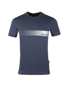 Boss Mens Blue Slim Fit UV T shirt