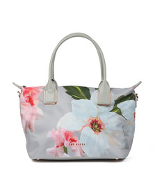 Ted Baker Womens Grey Orsja Chatsworth Bloom Small Nylon Tote