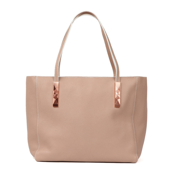 Ted Baker Womens Beige Paigie Soft Grain Large Zip Tote main image