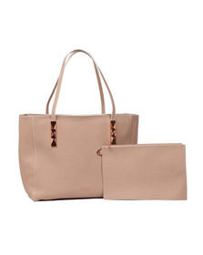 Ted Baker Womens Beige Paigie Soft Grain Large Zip Tote