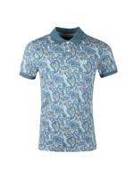Pique Paisley Print Polo Shirt