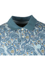 Pique Paisley Print Polo Shirt additional image