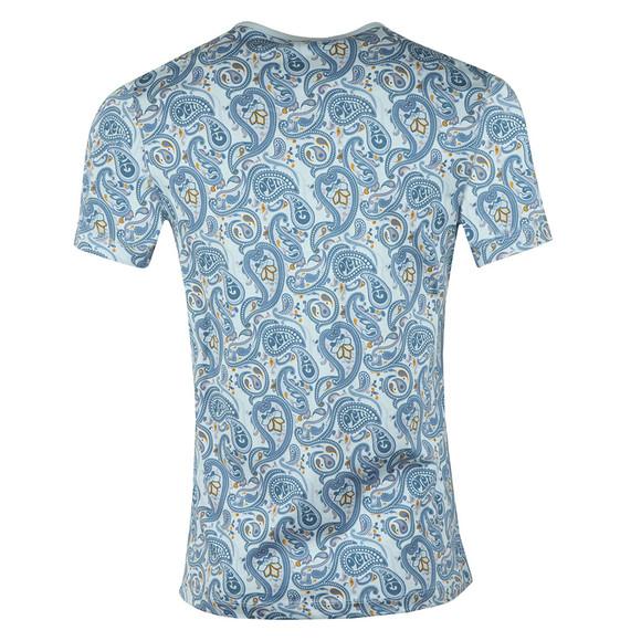 Pretty Green Mens Blue Paisley Print T-Shirt main image