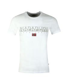 Napapijri Mens White S/S Sapriol T-Shirt