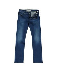Jacob Cohen Mens Blue PW622 Tailored Slim Jean