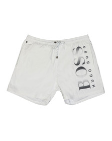 BOSS Mens White Octopus Swim Short