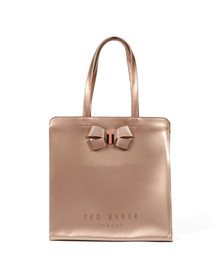 Ted Baker Womens Pink Vallcon Bow Detail Large Icon Bag