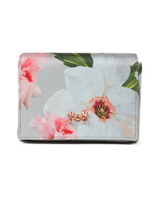 Ted Baker Womens Grey Meagan Chatsworth Bloom Evening Bag
