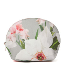 Ted Baker Womens Grey Marcene Chatsworth Bloom Dome Washbag
