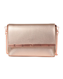 Ted Baker Womens Pink Melisaa Bow Embossed Xbody Bag