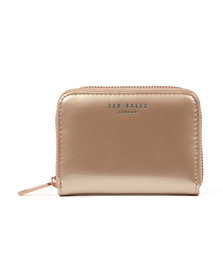 Ted Baker Womens Pink Omarion Patent Zip Around Mini Purse