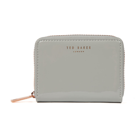 e7c0c412fcda Ted Baker Womens Grey Omarion Patent Zip Around Mini Purse main image