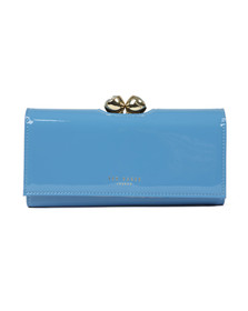 Ted Baker Womens Blue Honeyy Twisted Bobble Patent Matinee Purse