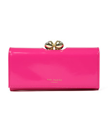 Ted Baker Womens Pink Honeyy Twisted Bobble Patent Matinee Purse