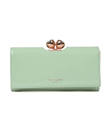 Ted Baker Womens Green Honeyy Twisted Bobble Patent Matinee Purse
