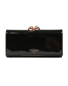 Ted Baker Womens Black Honeyy Twisted Bobble Patent Matinee Purse