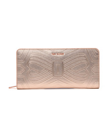 Ted Baker Womens Pink Mellvna Embossed Bow Zip Matinee