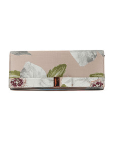 Ted Baker Womens Pink Korri Chatsworth Bloom Satin Clutch