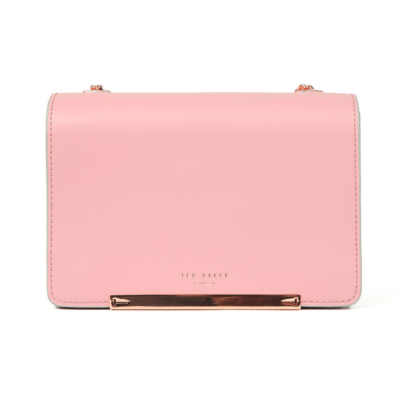 Ted Baker Womens Pink Earie Rainbow Gusset Cross Body Bag