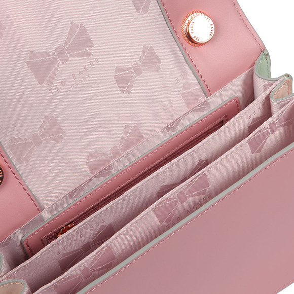 Ted Baker Womens Pink Earie Rainbow Gusset Cross Body Bag main image