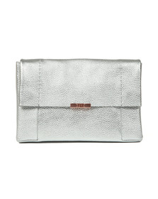 Ted Baker Womens Silver Parson Unlined Soft Leather Xbody Bag